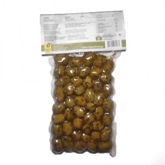 Green olives Halkidiki with oregano Oileas 250gr