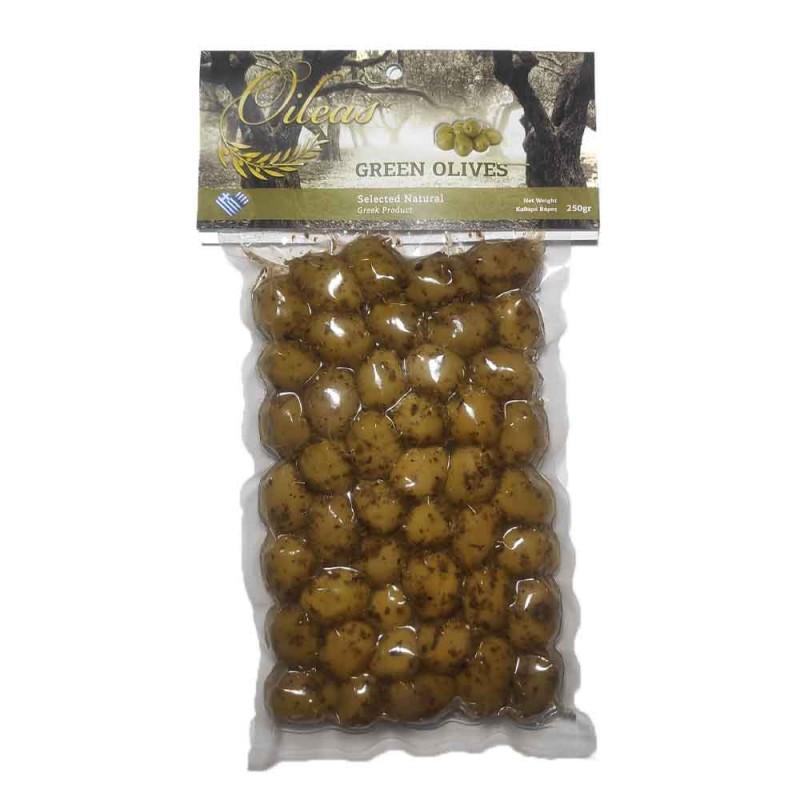 Green olives Halkidiki with oregano Oileas 250gr